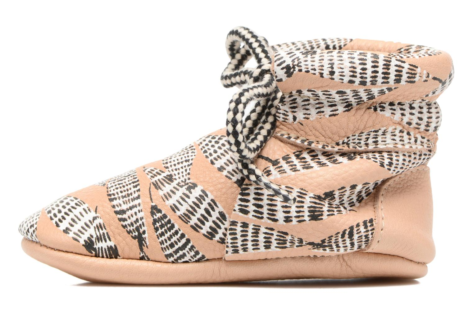 Pantofole Hippie Ya Booties Collab HY & Moumout Beige immagine frontale