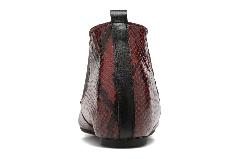 Bottines et boots Ippon Vintage Cult snake Bordeaux vue droite