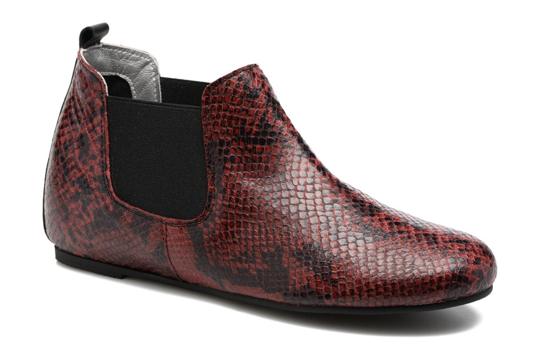 Bottines et boots Ippon Vintage Cult snake Bordeaux vue détail/paire