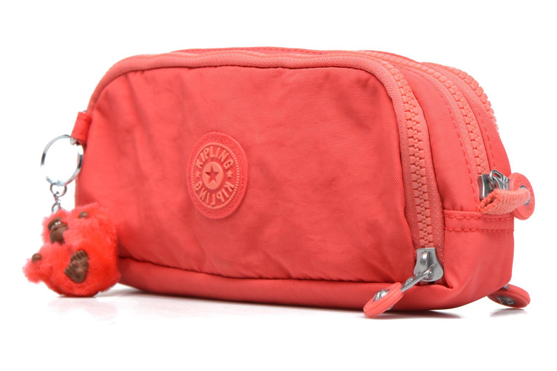 Scolaire kipling GITROY Trousse 3 compartiments Rouge vue portées chaussures