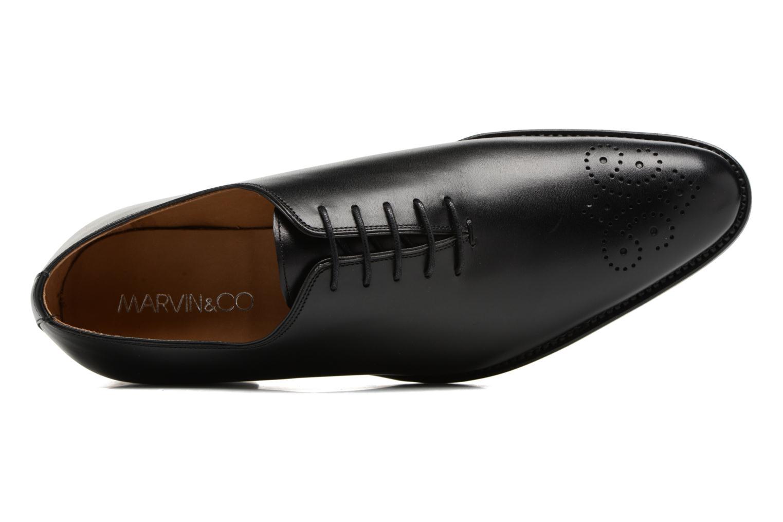 Chaussures à lacets Marvin&Co Luxe Waller - Cousu Goodyear Noir vue gauche