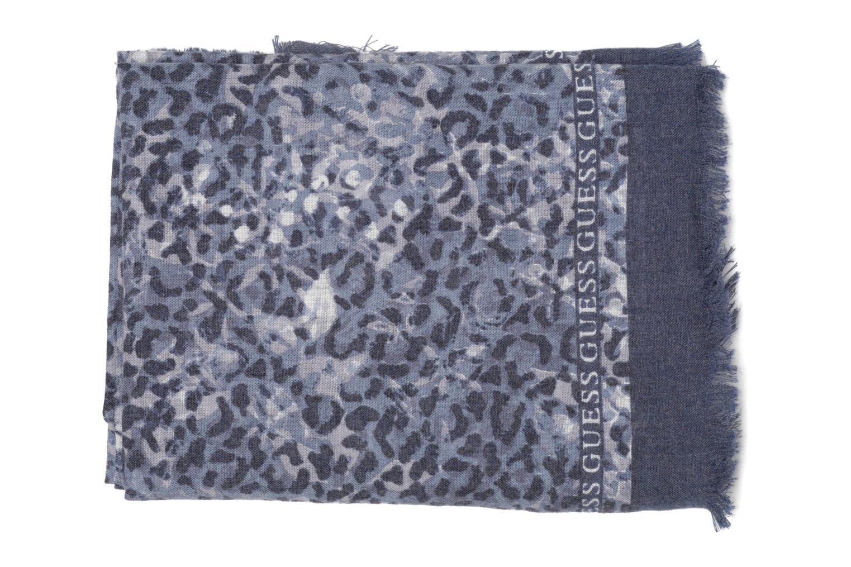 Divers Guess Foulard Bleu vue portées chaussures