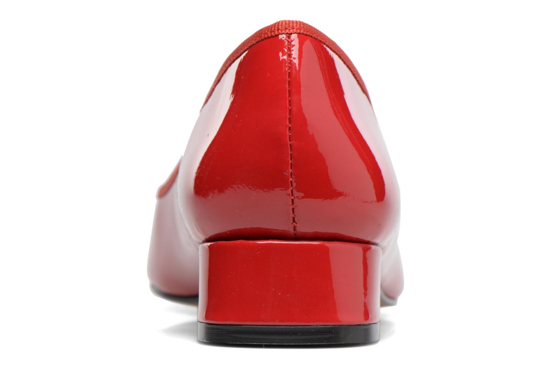 Saboucle cuir vernis rouge