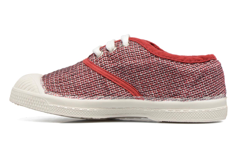 Baskets Bensimon Tennis Fancy Linen E Rouge vue face