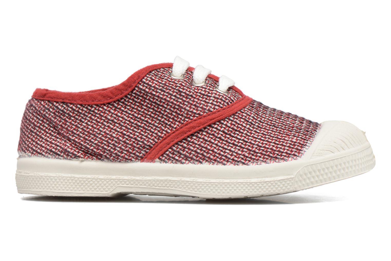 Baskets Bensimon Tennis Fancy Linen E Rouge vue derrière