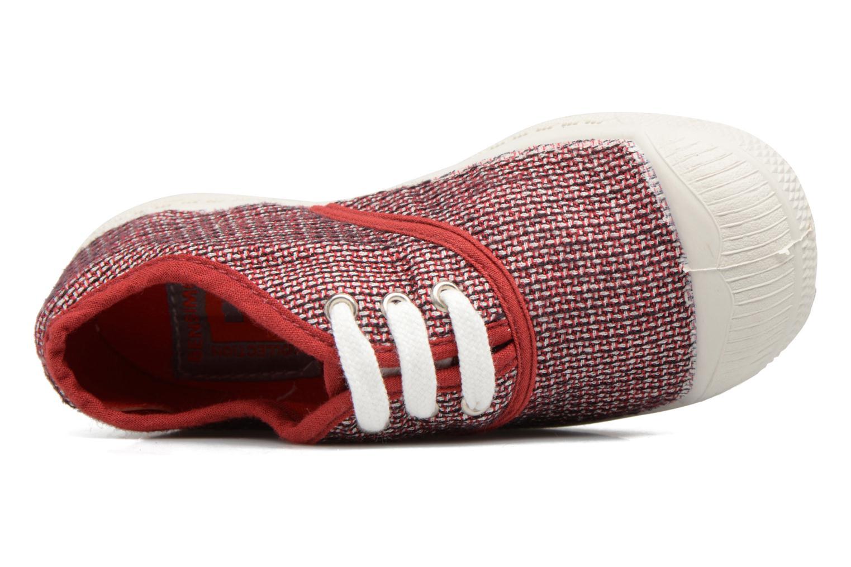 Sneakers Bensimon Tennis Fancy Linen E Rosso immagine sinistra