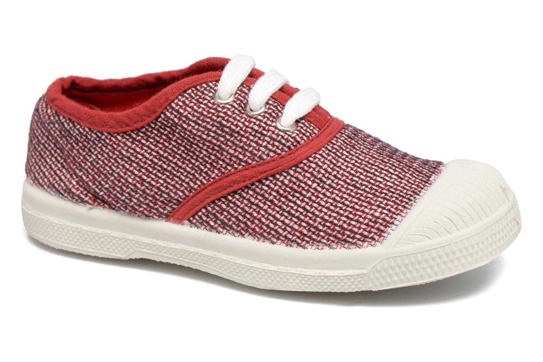 Baskets Bensimon Tennis Fancy Linen E Rouge vue détail/paire