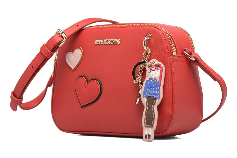 Sacs à main Love Moschino Crossbody Girls & Heart Rouge vue portées chaussures
