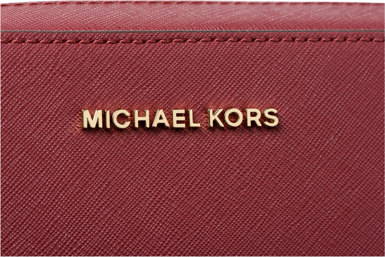 Bolsos de mano Michael Michael Kors LG EW Crossbody Vino vista lateral izquierda
