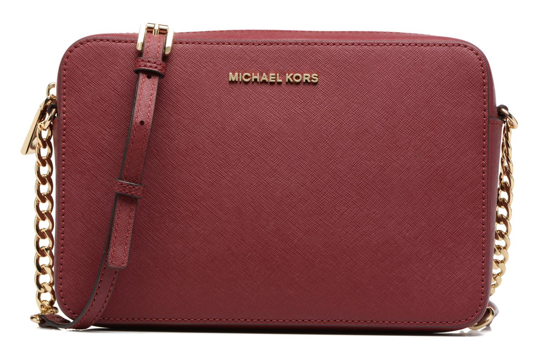 Sacs à main Michael Michael Kors LG EW Crossbody Bordeaux vue détail/paire