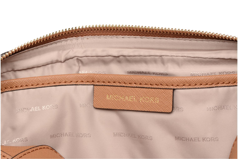 Bolsos de mano Michael Michael Kors LG EW Crossbody Marrón vista lateral izquierda