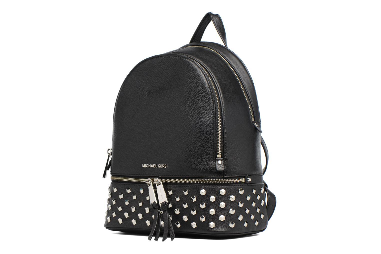 Sacs à dos Michael Michael Kors Rhea Zip FCT STD MD Backpack Noir vue portées chaussures
