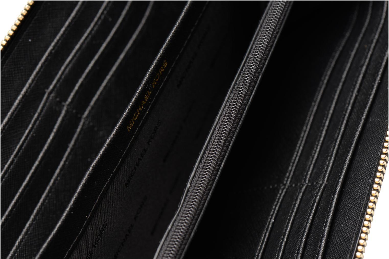 Kleine lederwaren Michael Michael Kors Mercer Pocket ZA Continental Zwart achterkant