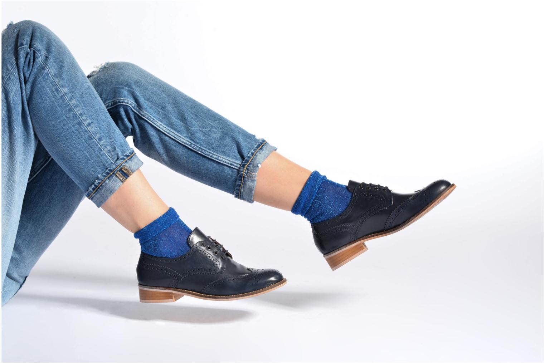 Chaussures à lacets Georgia Rose EMY Bleu vue bas / vue portée sac