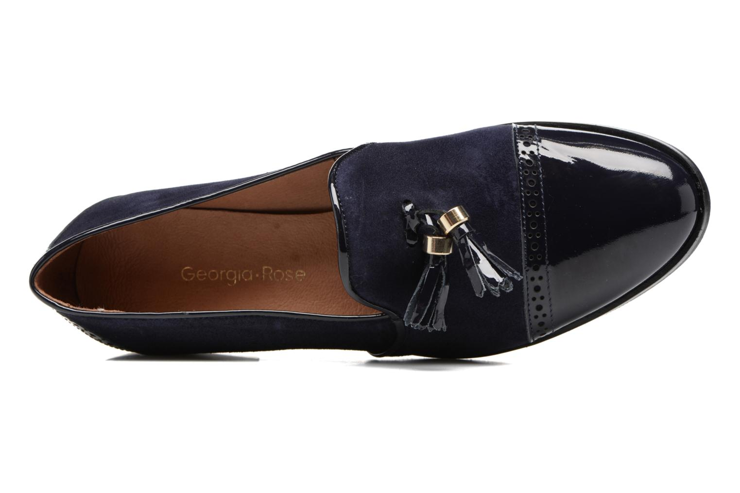 Loafers Georgia Rose EMILIA Blue view from the left