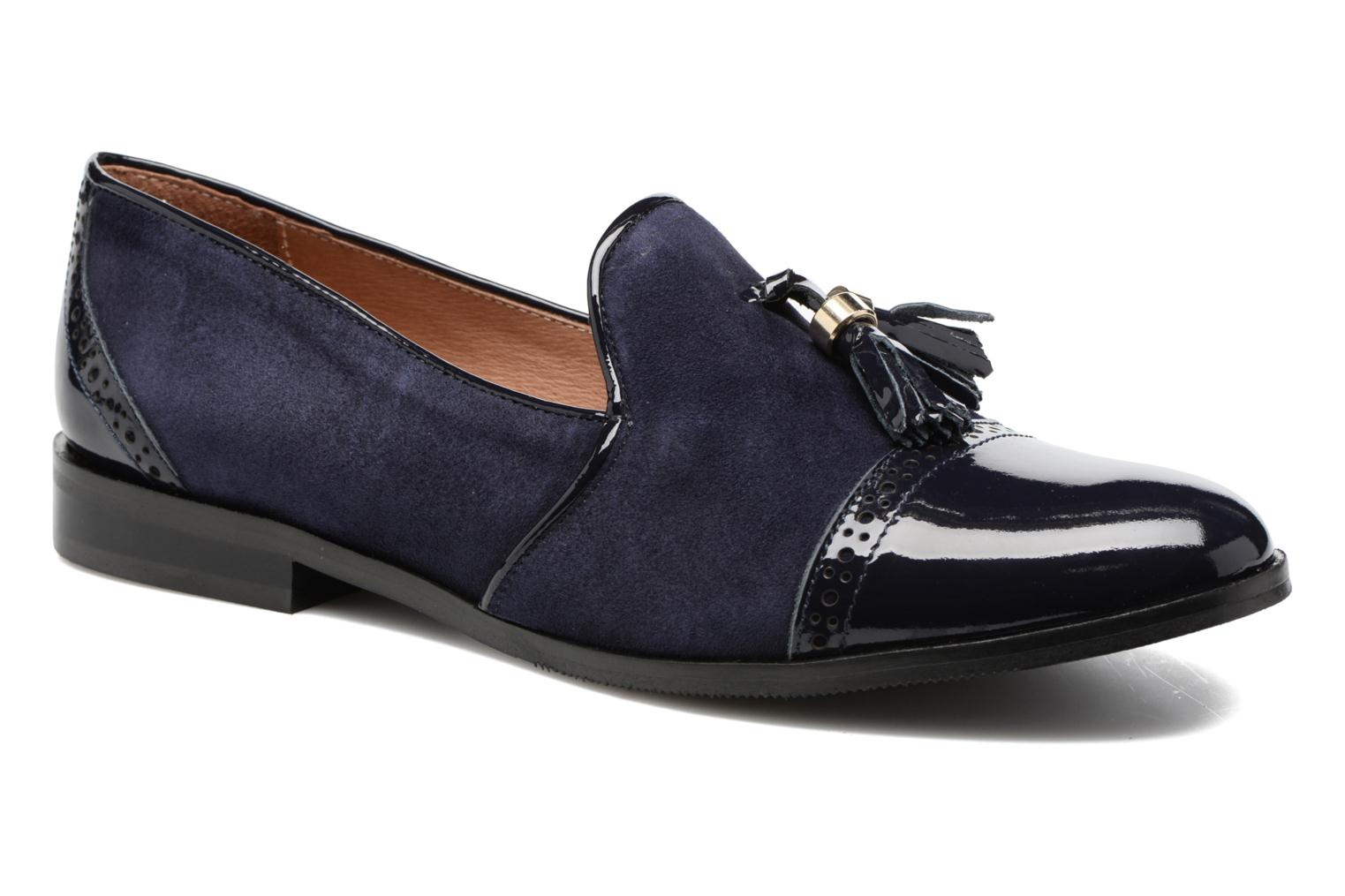 Loafers Georgia Rose EMILIA Blue detailed view/ Pair view