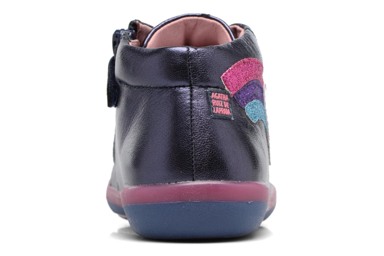 Baskets Agatha Ruiz de la Prada Butterfly Bleu vue droite