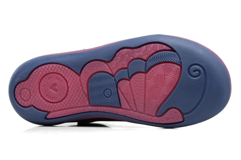 Baskets Agatha Ruiz de la Prada Butterfly Bleu vue haut