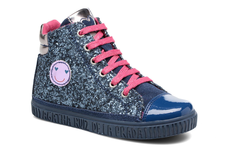 Baskets Agatha Ruiz de la Prada Mini Lollipop 3 Bleu vue détail/paire