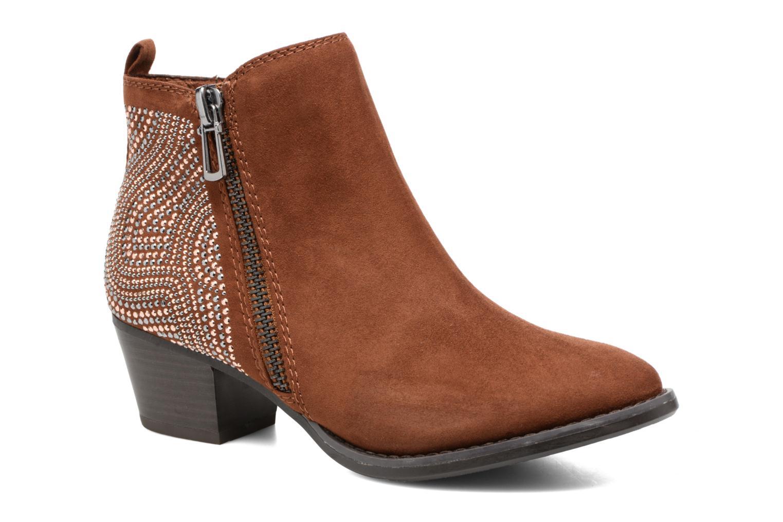 Bottines et boots Marco Tozzi Elea Marron vue détail/paire