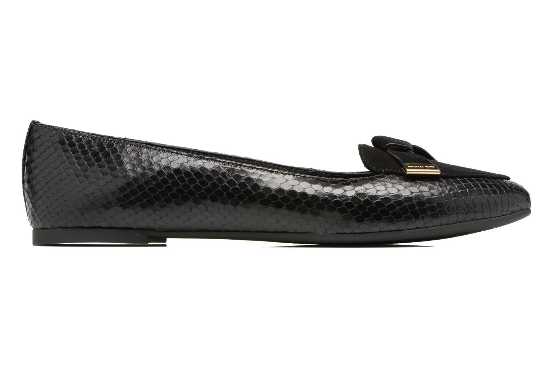Rosie Flat 001 Black Suede / Printed Snake