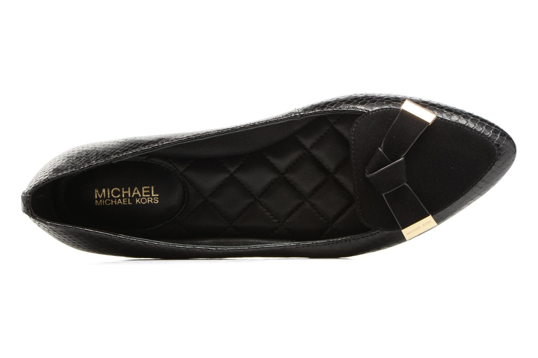 Ballerines Michael Michael Kors Rosie Flat Noir vue gauche