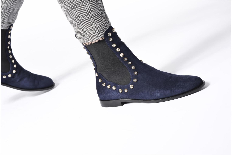 Bottines et boots Carven Odeon Bleu vue bas / vue portée sac