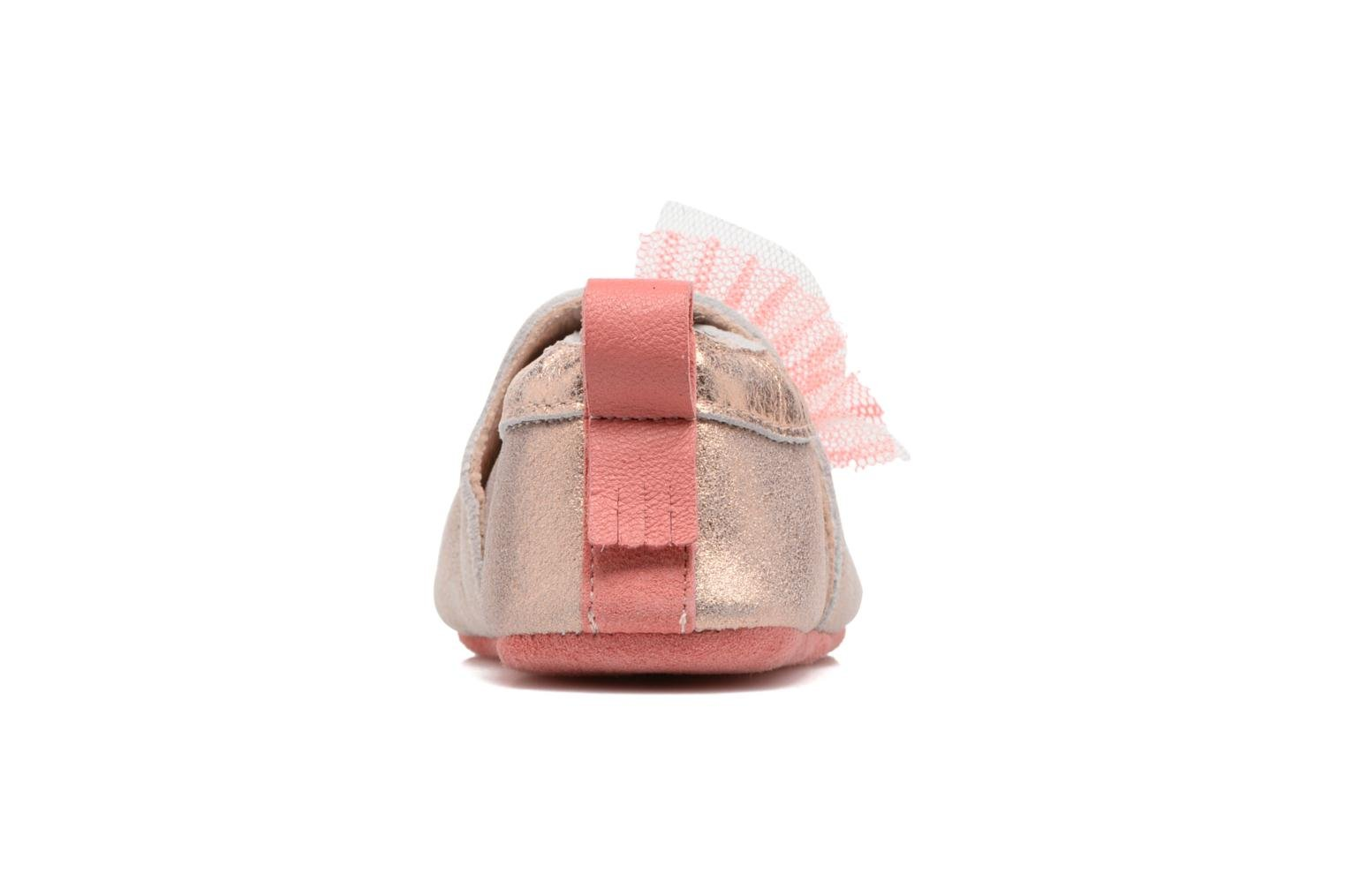 Chaussons Babybotte Etoiles - Moulin Roty Or et bronze vue droite