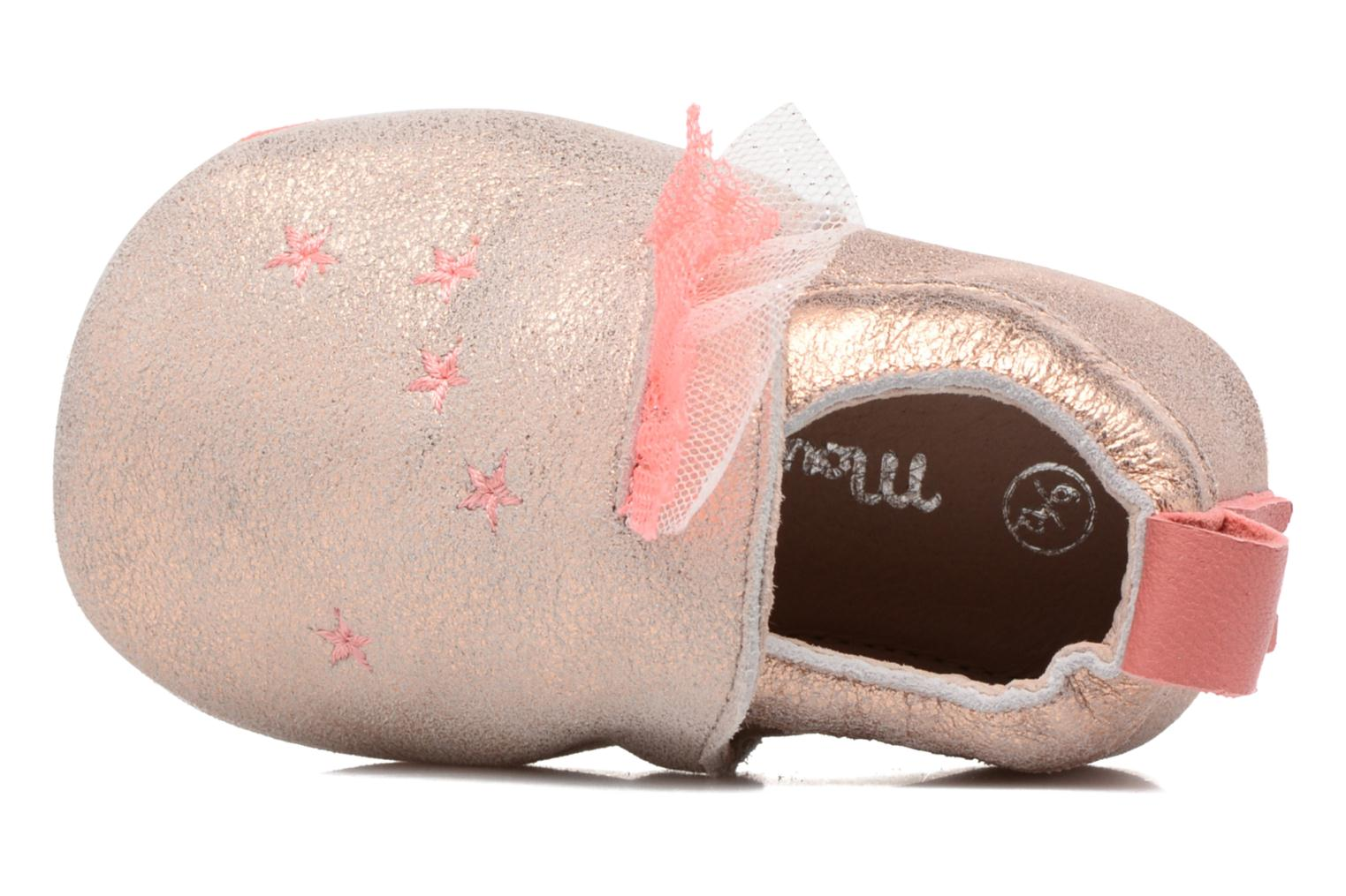 Chaussons Babybotte Etoiles - Moulin Roty Or et bronze vue gauche