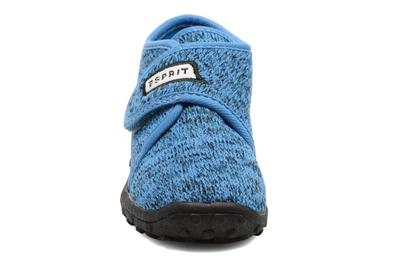 Chaussons Esprit Robin Velcro Bleu vue portées chaussures