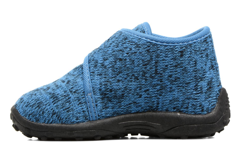Chaussons Esprit Robin Velcro Bleu vue face