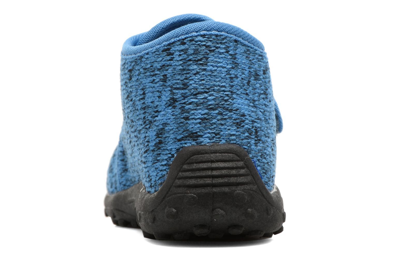 Chaussons Esprit Robin Velcro Bleu vue droite