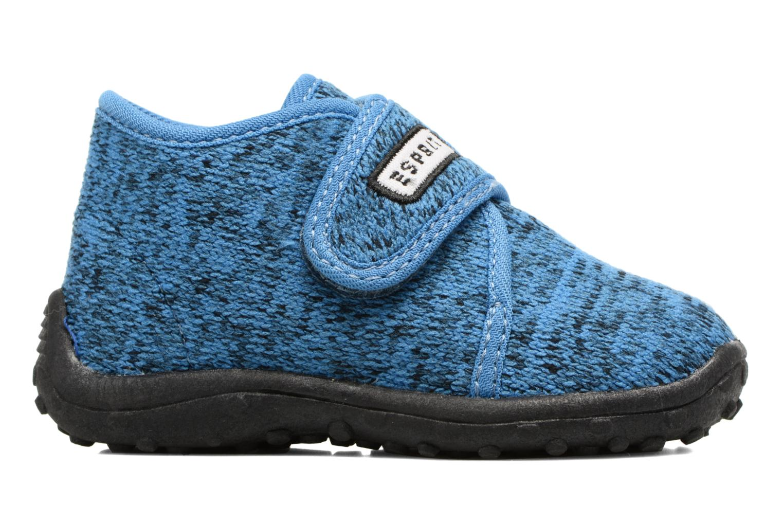 Chaussons Esprit Robin Velcro Bleu vue derrière