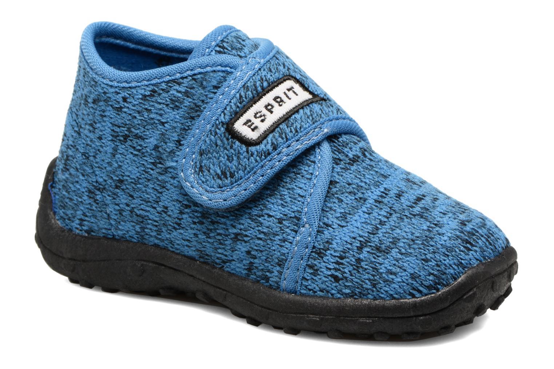 Chaussons Esprit Robin Velcro Bleu vue détail/paire