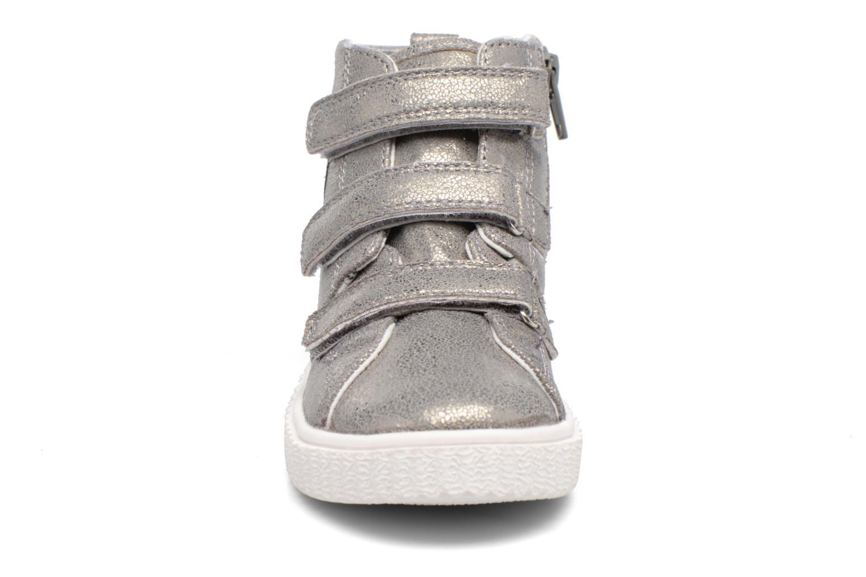 Baskets Esprit Fancy Velcro Argent vue portées chaussures