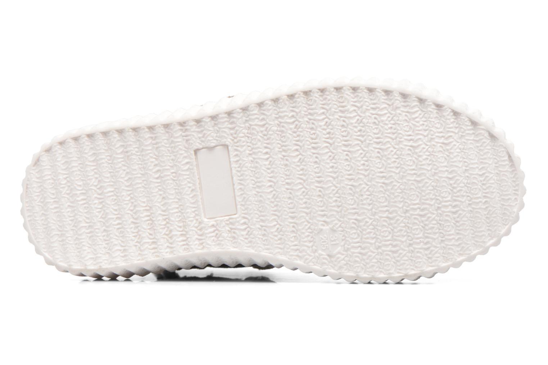 Baskets Esprit Fancy Velcro Argent vue haut