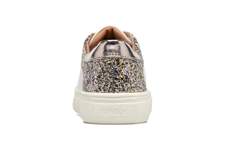 Sage contrast sneaker white glitter