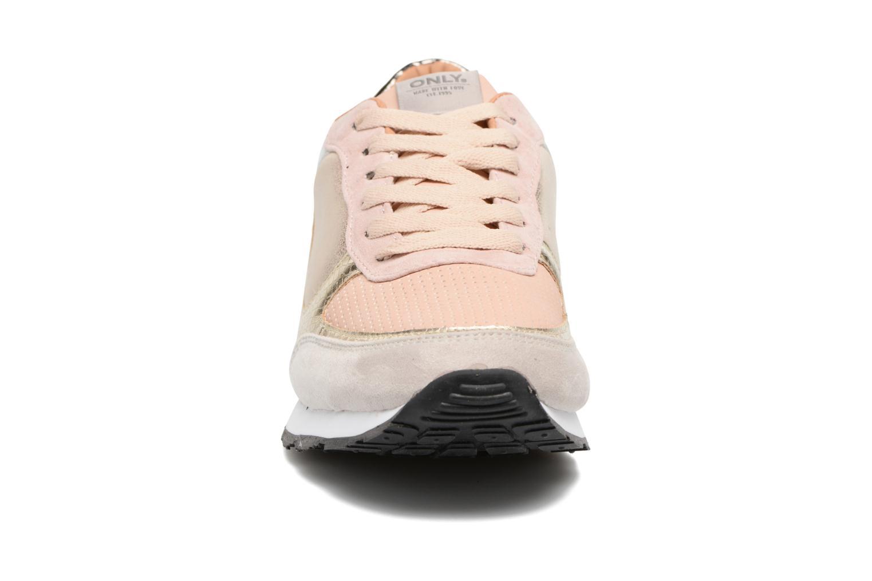 Sillie mix sneaker nude gold glitter