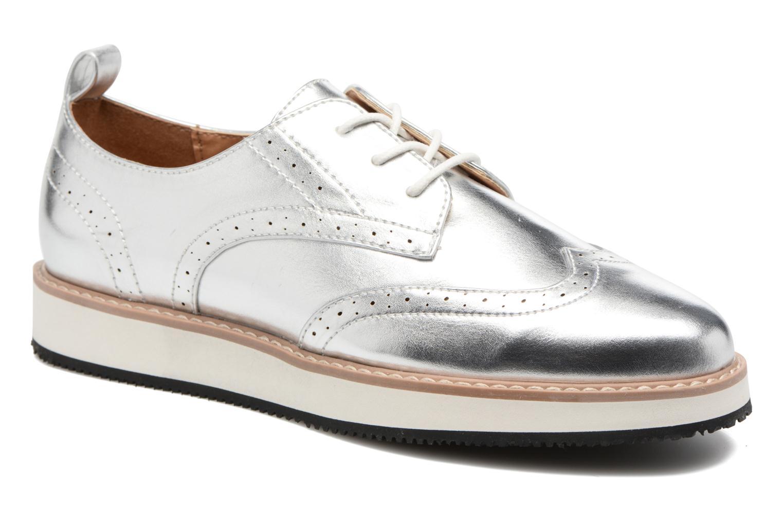 Zapatos con cordones ONLY Tyra pu lace up Plateado vista de detalle / par