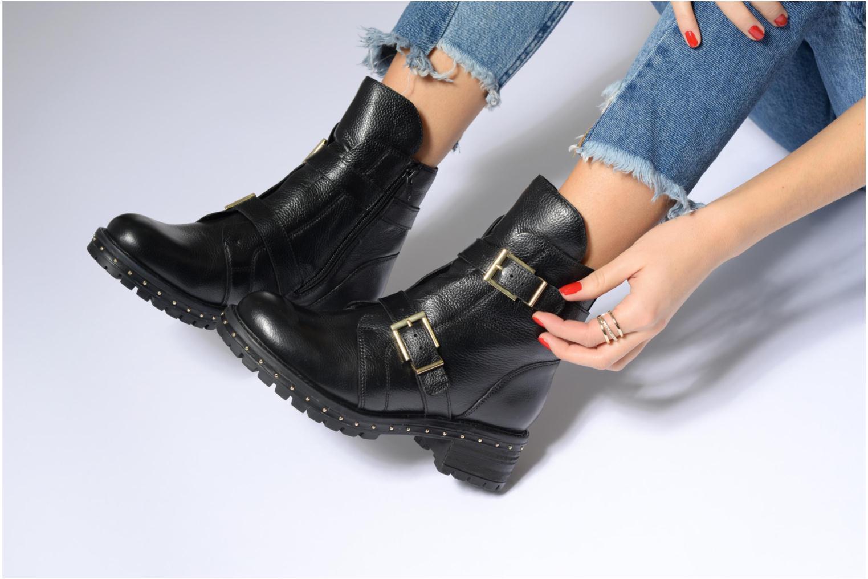 Bottines et boots Bronx Bnewfalcox Noir vue bas / vue portée sac