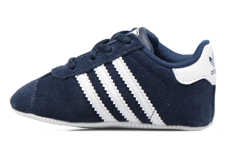 Baskets Adidas Originals Gazelle Crib Bleu vue face