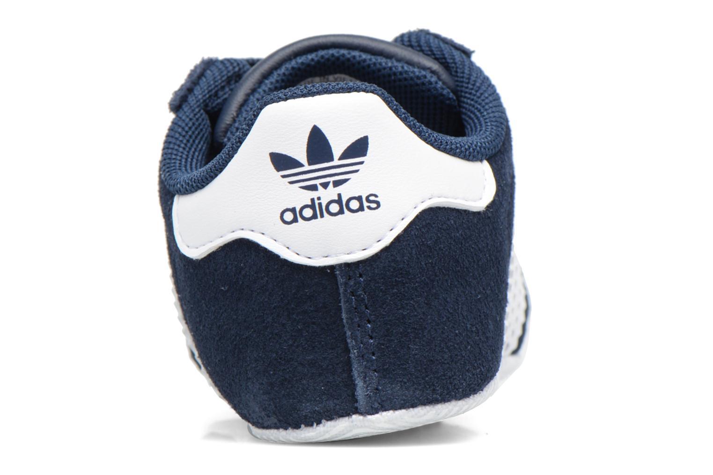 Baskets Adidas Originals Gazelle Crib Bleu vue droite