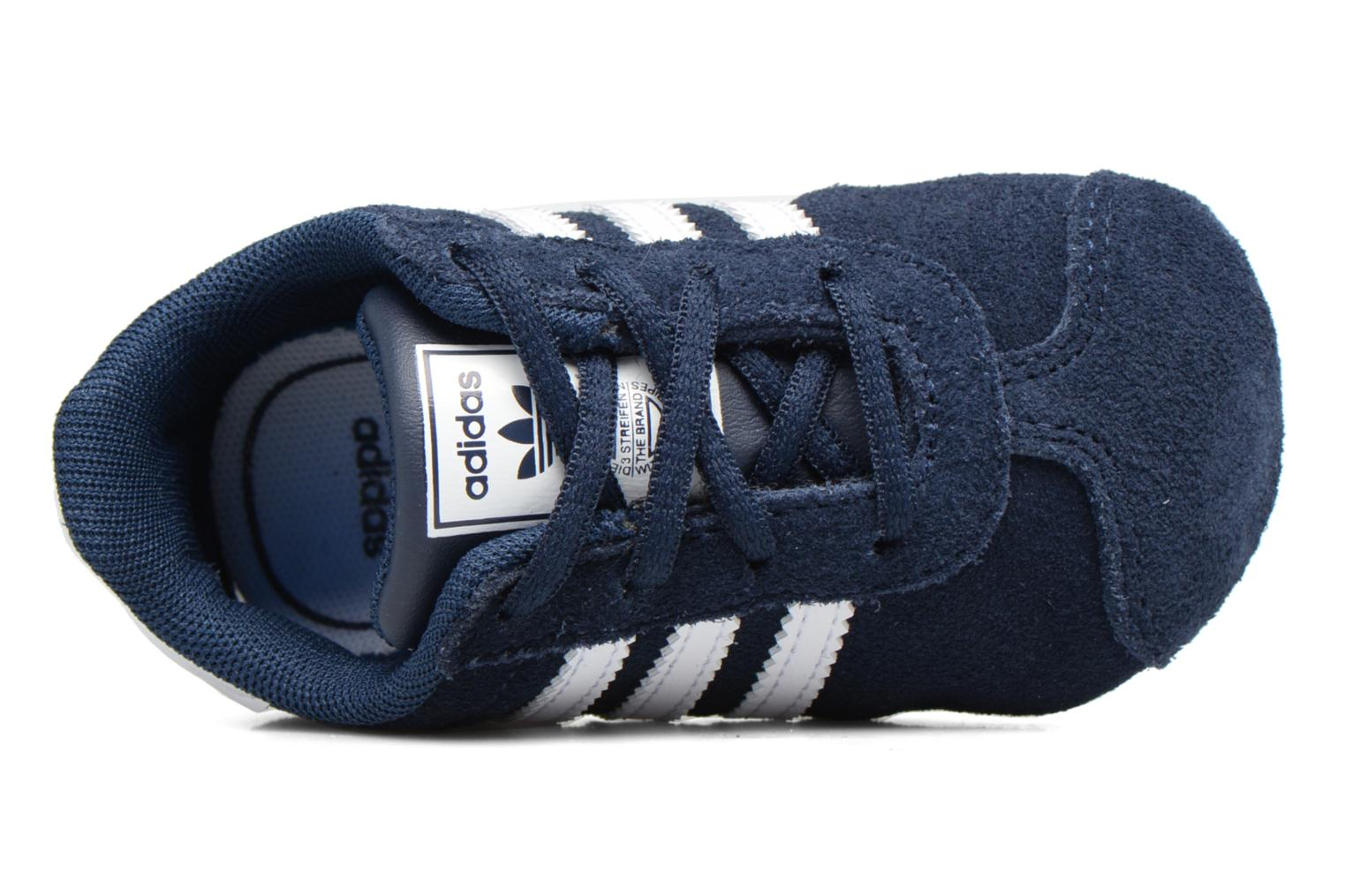 Trainers Adidas Originals Gazelle Crib Blue view from the left