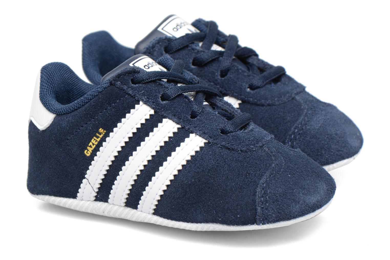 Baskets Adidas Originals Gazelle Crib Bleu vue détail/paire