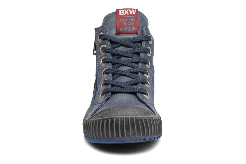 Baskets Bopy Vojan Bleu vue portées chaussures
