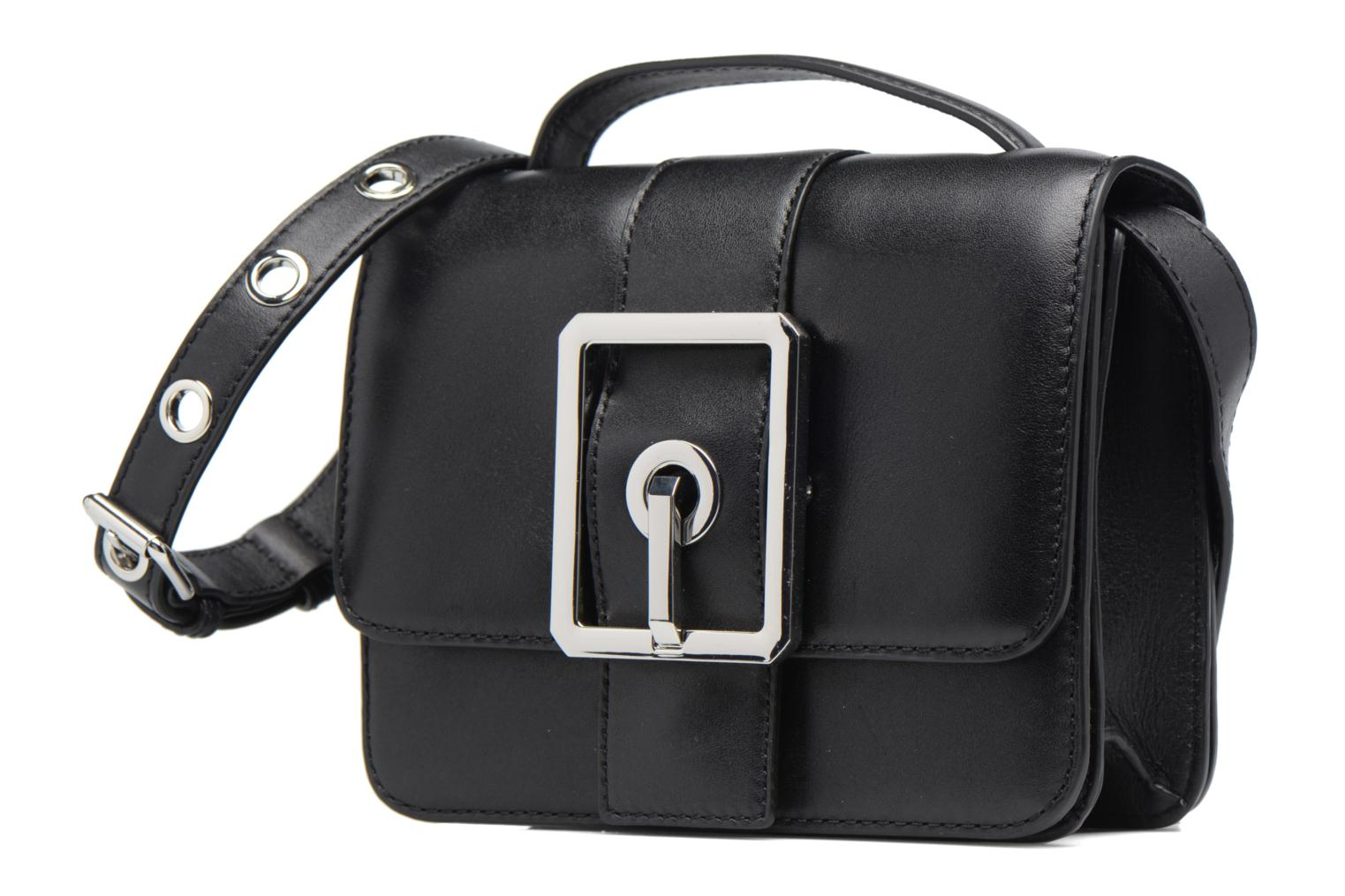 Sacs à main Rebecca Minkoff Hook up Top Handle Small Crossbody Noir vue portées chaussures