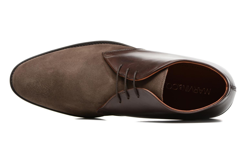 Chaussures à lacets Marvin&Co Tellington Marron vue gauche