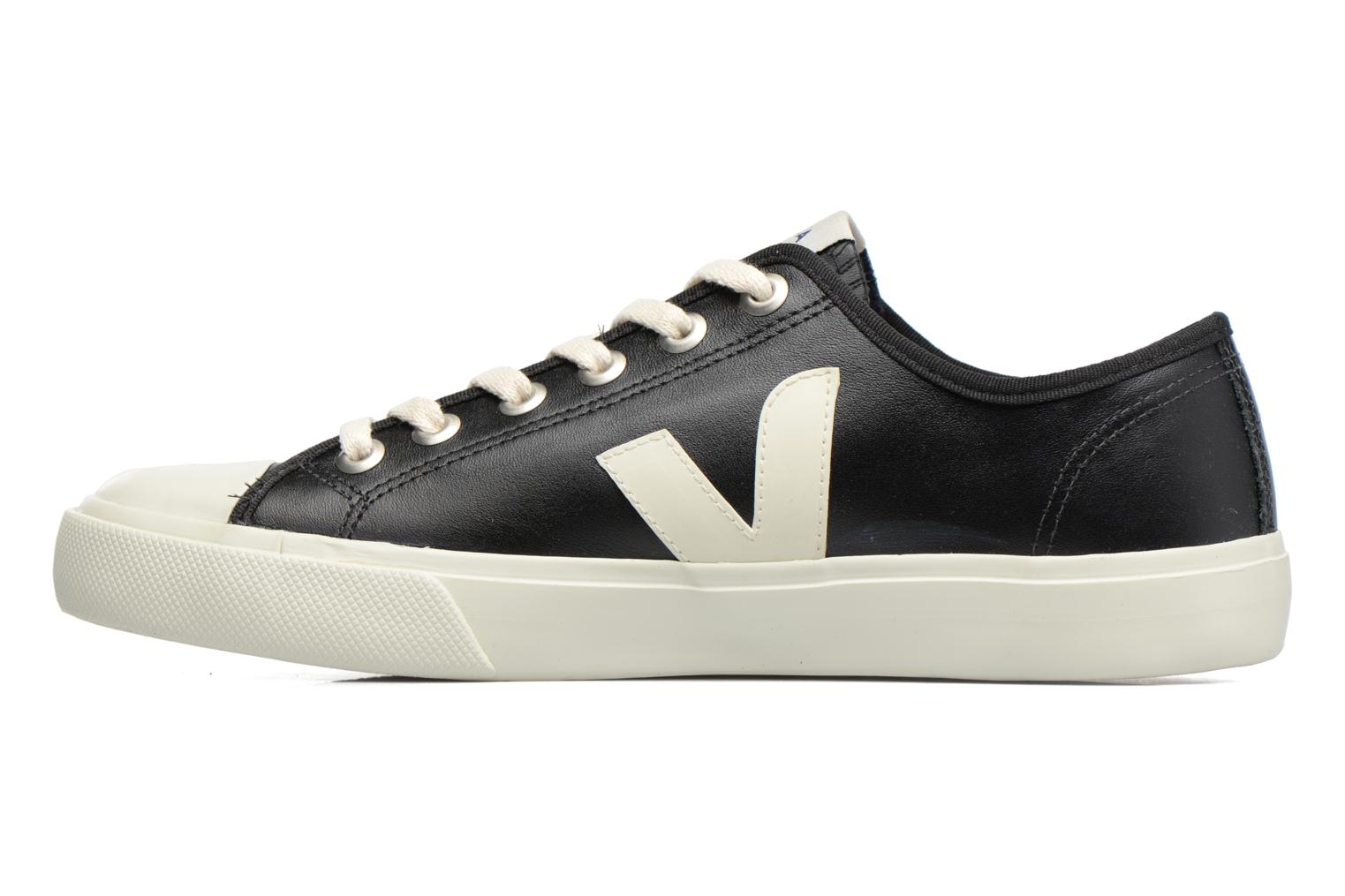 Baskets Veja WATA LEATHER Noir vue face