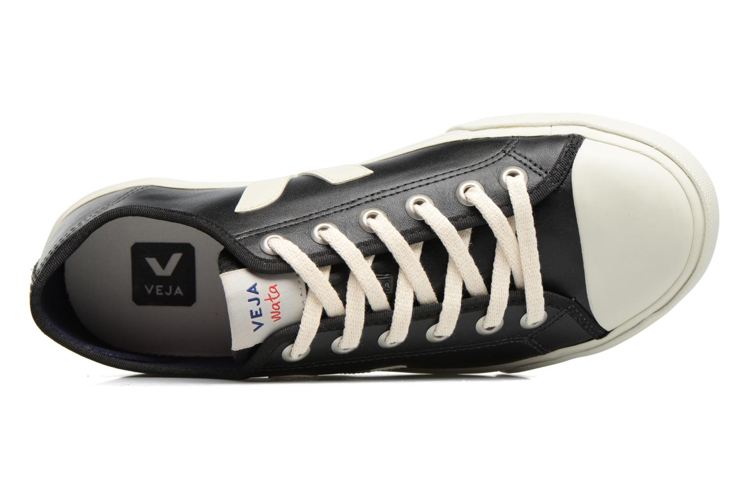 Baskets Veja WATA LEATHER Noir vue gauche
