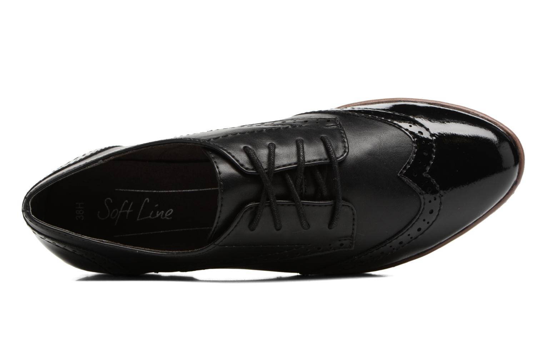 Chaussures à lacets Jana shoes Pomina Noir vue gauche